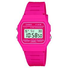 Casio F-91WC-4AEF Mens Retro Collection Pink Chronograph Watch RRP £22