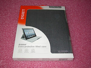 Cygnett Armour Extra-Protective Case for iPad 2, 3, 4th w/Flex-View Stand (Gray)