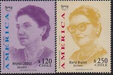 upaep Chile 1470/71 1998 Amanda labarca Marta brunet MNH