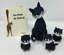 More details for set of 4 cats dubout cat collection mother with three kittens sitting figurine