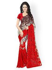 Bollywood Saree Indian Pakistani Ethnic Party Wedding Designer Sari With Blouse