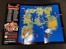 Breath Of Fire Snes World Map Poster Insert