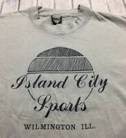 80s 90s VTG SCREEN STARS BEST WILMINGTON ILLINOIS Sports T Shirt Made USA XL