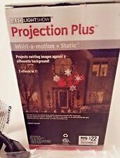 Gemmy Led Light Show Christmas Projection Plus Projector Santa Reindeer