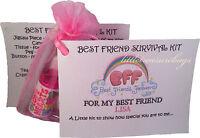 Best Friend Novelty Survival Kit. Personalised Little Keepsake Gift For The BFF