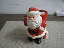"Vintage Avon Santa Candle Holder 1982 Japan Ceramic 5 1/2"""