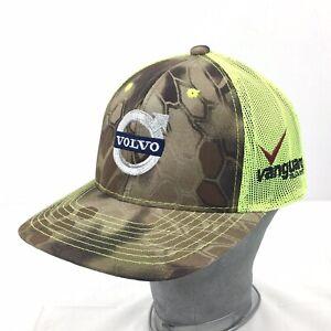 VOLVO Camo Trucker Mesh StrapBack Hat Vanguard Truck Centers Green Kryptek