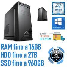 PC COMPUTER DESKTOP FISSO ASSEMBLATO I7 4770 3.40GHZ WINDOWS 10 PRO UFFICIO-