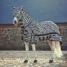 Catago Fliegendecke Fliegenschutz komplett mit Halsteil Hut Beige-braun Zebra
