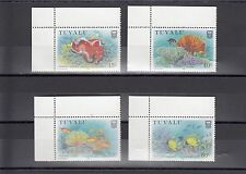 TIMBRE STAMP 4  ILE TUVALU Y&T#483A-83D POISSON CORAIL NEUF**/MNH-MINT 1988 ~A15