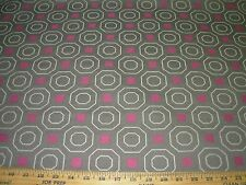 ~4 4/8 YDS~MODERN RETRO GEOMETRIC CHECK~WOVEN AWSOME UPHOLSTERY FABRIC FOR LESS~