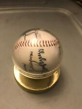 Cardinals Autographed Ball with stand Whitey Herzog Jose Oquendo w/many more