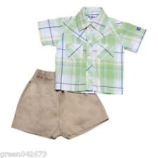 Oshkosh B'gosh Checkered Polo with Short Set (OCSS #8) - Size 9 months