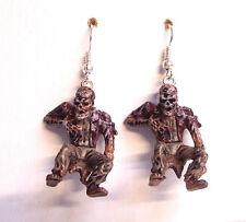 """Walking Dead-like Zombie Planet Apocalypse Decay Ray Dangle Earrings 1.5"""""""