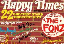 """HAPPY TIMES EN ROCK AND ROLL 22 GREATEST STARS HITS 12"""" LP + AFFICHE (L8412)"""