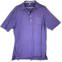 Peter Millar Summer Comfort Polo Shirt Mens Large Royal Purple Short Sleeve