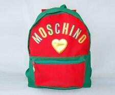 MOSCHINO shoulder backpack red green gold bag heart purse vintage love