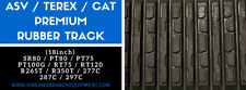 2x PREMIUM ASV / TEREX SR80 / PT75 / PT80 / PT100G RUBBER TRACK