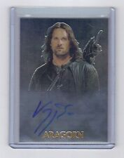 Topps Chrome  Lord Of The Ring Trilogy Viggo Mortensen as Aragorn auto card