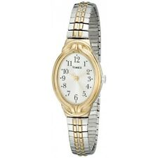"Timex Women's T2N980 ""Elevated Classics"" Two-Tone Expansion Watch"