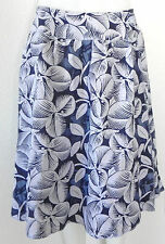 Island Republic Wrap Skirt Size 10 Navy Blue and Grey  tones Floral Prints