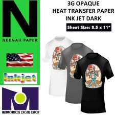 Heat Transfer Paper 3g Opaque Iron On Dark T Shirt Inkjet Paper 5 Pk 85x11 1