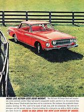 1962 Dodge Dart - Vintage Advertisement Car Print Ad J379