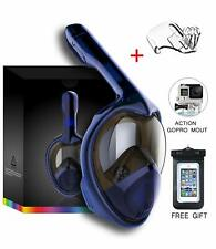 Tooklanet snorkeling mask full face for Adult Kids, HD Mirror Panoramic 180° Vie
