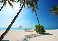 Maldives Tropical Paradise Beach Scene Giant Poster - A0 A1 A2 A3 A4 Sizes