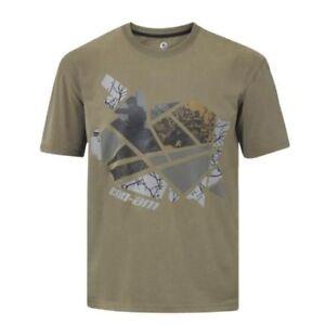 Can Am ATV Shirt Mens Adventure Tee Shirt Khaki Commander Outlander Maverick