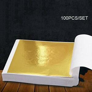 100 feuilles d' or- décoration artisanat 90 x 85 mm