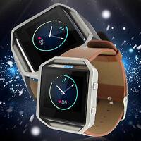 EG_Nouveau Véritable Cuir Bracelet de montre BANDEAU POIGNET pour Fitbit ECLAT