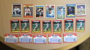 1987-1989 Roger Clemens Baseball Card Lot Of 19 Cards Collectible Classic Cards