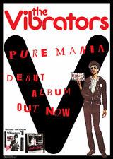 The Vibrators Pure Mania Music Poster 23.5x33