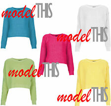 Acrylic Cropped Striped Jumpers & Cardigans for Women