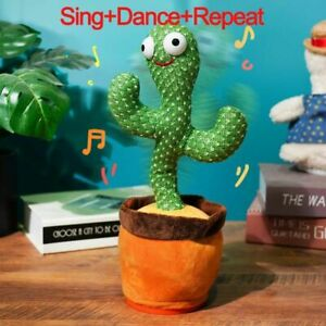 Plush Toy Talking Dancing Cactus USB Charge Shake Childhood Education Doll Home
