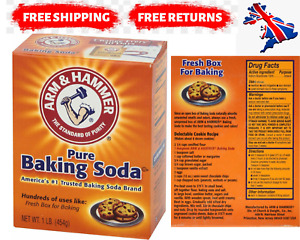 ARM & HAMMER PURE BAKING SODA LARGE 454g CLEANING BAKE for Baking, Cleaning