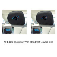 New 2pc NFL Carolina Panthers Automotive Gear Car Truck Headrest Covers Set