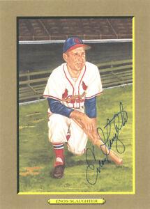 Enos Slaughter Autographed Signed 1988 Perez-Steele Postcard Cardinals #138406
