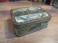 TOBACCO TIN GOLD BLOCK CAN POCKET SLICE VINTAGE EARLY 1900's IMPERIAL CANADA