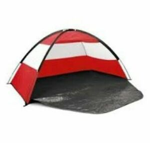Beach Tent UPF40 - Play Garden Light - Sun Shade Kid Dog Festival RED