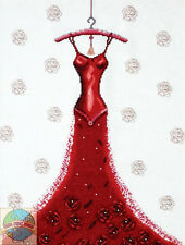 Cross Stitch Kit ~ Design Works Wonderful Tonight Fashion Red Rose Dress #DW2488