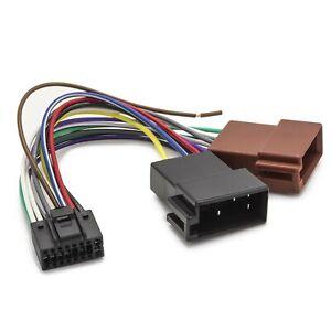 Adapter Universe Auto Radio Adapter DIN ISO Stecker 16 Pin Kabelbaum für JVC