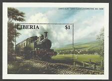LIBERIA 1996 RAILWAY LOCOMOTIVE TRAINS CRICKET MATCH Souvenir Sheet (No 1) MNH