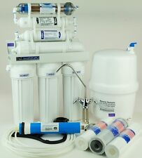 UMKEHROSMOSEANLAGE RO7 TRINKWASSER mit Negativ Ion- Wasser Energetisirung