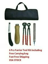 Steelpro Farrier Shoeing Tool Kit 6 PC Set Incl  FREE  Carrying Bag & SHIPPING