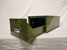 VINTAGE 1950'S INDUSTRIAL GREEN METAL FILING DRAWER, INDEX CABINET, HOME OFFICE