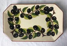 Vintage Manuel Rodra Algarve Portugal Rectangular Dish Bowl with Olives