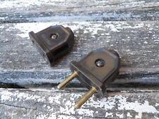 2 Prises mâle et femelle en bakélite1930 lampe gras industriel , Muller Daum ...