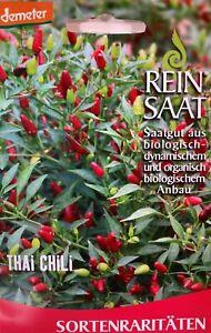 Thai Chili  - Saatgut - Samen  - Demeter - aus biologischem Anbau - Bio